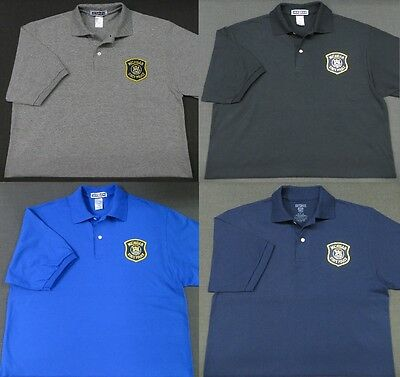 Michigan State Police Patch Polo Shirt - MED to 3XL - 4 Colors - NEW