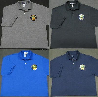 Florida Highway Patrol Patch Polo Shirt - MED to 3XL - 4 Colors - NEW