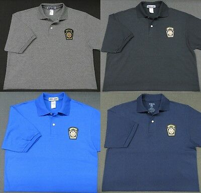 Pennsylvania State Police Patch Polo Shirt - MED to 3XL - 4 Colors - NEW