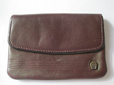 Vintage Etienne Aigner Coin Purse / Wallet Leather Burgundy RARE