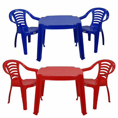 Childrens Kids Plastic Indoors Outdoors Plastic Table  And Chairs