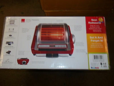 Ronco ST5250RDGEN Store Rotisserie Oven, Red New Sealed