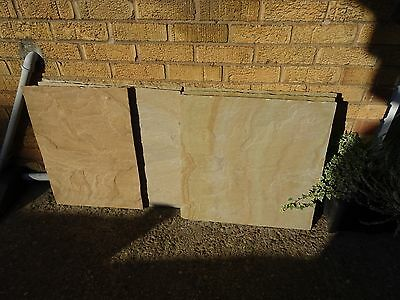 Indian Sandstone Paving - Rippon Buff 5 Metres approx