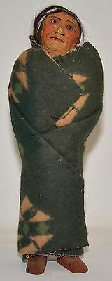 Hand Crafted Native American Skookum Doll by Mary Frances Woods w Artist Imprint