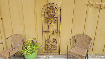Vintage hand forged iron garden gate Very Detailed