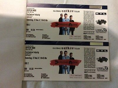 2 tickets depeche mode front of stage 1 fos 1 leipzig am eur 590 00 picclick de. Black Bedroom Furniture Sets. Home Design Ideas