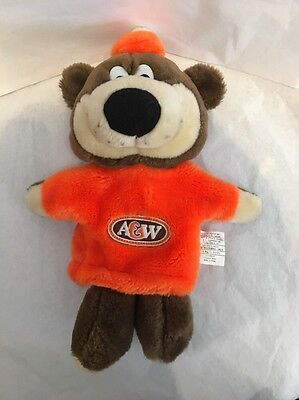 Vintage Plush A&W A & W Root Beer BEAR HAND PUPPET