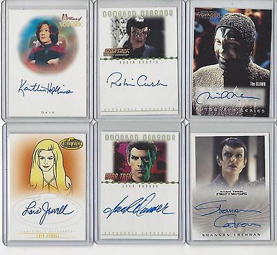 Star Trek Trading Card (Rittenhouse) Autograph Lot - your choice