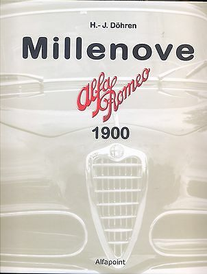 Alfa Romeo  1900 Millenove Fantastic Book Limited Edition Cheapest Available !