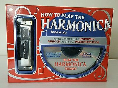 How to play the Harmonica Book & Kit/  NEW.
