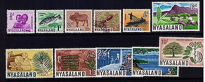 Nyasaland Protectorate SC# 123-133 MH and Used Cat.$15