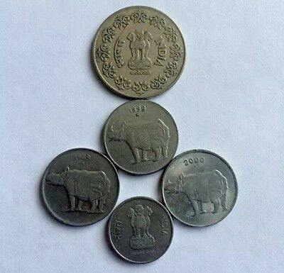 Lot Of (5) 1984 And Up Rare Indian Paisa Coins (Fraction Of Rupee) India