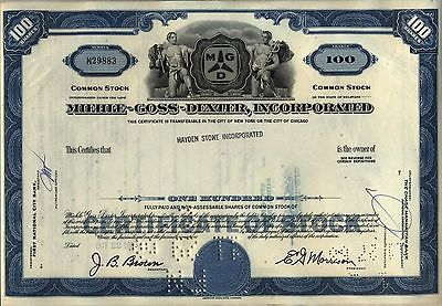 Miehle-Goss-Dexter Stock Certificate Printing Press Blue
