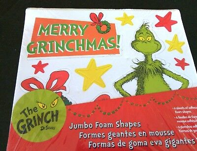 Dr Seuss Jumbo Christmas Foam Shapes Age 4+ Fun Merry Grinchmas Gift Present Kid