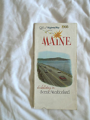 Maine Official 1966 Highway Map