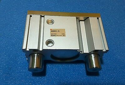 Smc  Mgqm50-25   Pneumatic Guided Cylinder,  50Mm Bore, 25Mm Stroke