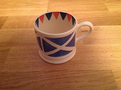RARE Emma Bridgewater 1/4.Pint Mug Decorated with the St Andrews Flag Scotland
