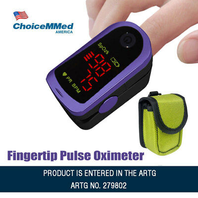 Fingertip Pulse Oximeter MD300C13 Blood Oxygen Saturation Monitor with CarryCase