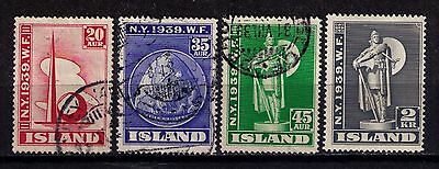 Iceland 1939 Sc# 213-216 Used/MLH Cat.90$