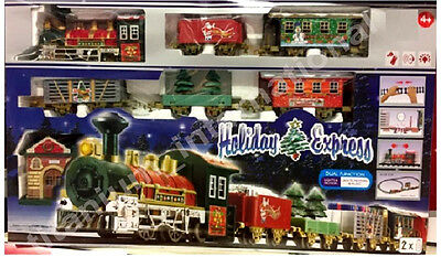Holiday Express Train Set  With lights,Motion Carriages Station DECOR