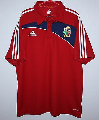 British and Irish Lions rugby polo shirt jersey Adidas Size 46/48