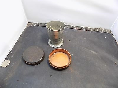 Antique Collapsible Cup w/ Leather Case