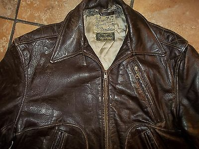 Vintage 40S 50S Steerhide Flight Western Leather Jacket