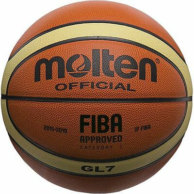 Molten AUTHENTIC GL7 OFFICIAL FIBA INDOOR  MATCH PLAY TOP GENUINE LEATHER