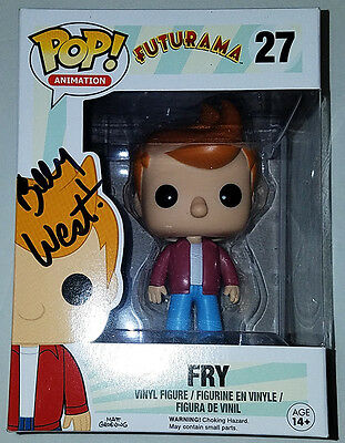 *signed By Fry!* Futurama Funko Pop! # 27 Exclusive Billy West Tma Coa # 5839966