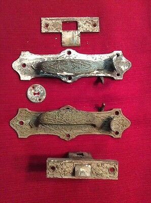 Vintage B.L.W Front Door Latch Brass/Bronze?  Pat. June 20 1876.