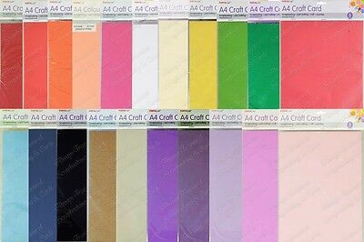 PORTACraft A4 Craft Smooth Colour Cardstock 6pk ~21 Colours Available *Scrapbook