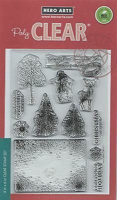 """""""Vintage Christmas Wishes"""" PolyClear Stamp Set by Hero Arts"""