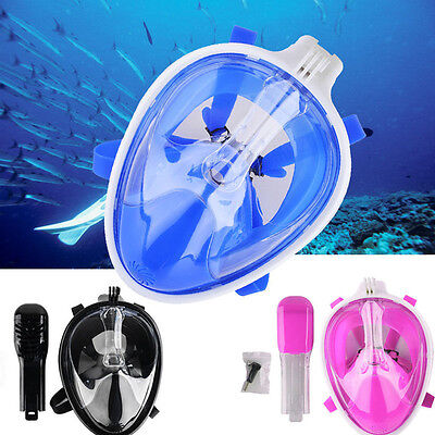 2016 Swimming Full Face Mask Surface Diving Snorkel Scuba Masks for GoPro 3Color