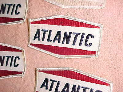 VINTAGE  -  7  ATLANTIC  CLOTH PATCHES  -  NEVER USED - LOT of 7