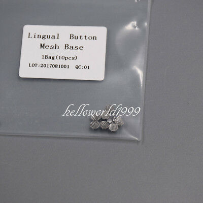 10 Pcs Dental Orthodontic Lingual buttons for bondable Round base Brand