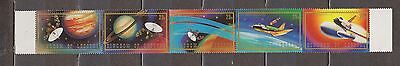 Lesotho 1981 Space Exploration Strip of 5 Mint NH (folded)