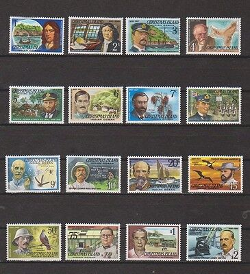 Christmas Islands 1977-8 Famous Visitor Set Mint NH