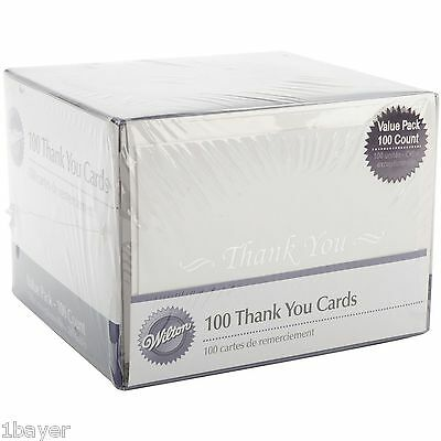 Wilton Business School Greeting Party Supply Thank You Letter Note Card (100pc)