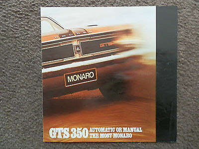 Holden 1969  Ht Gts Monaro Sales  Brochure 100% Guarantee