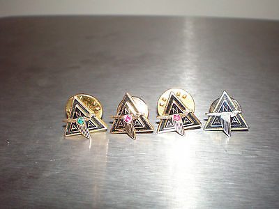 Set of 4 Vintage WWII NAA North American Aviation 10K Gold Pins