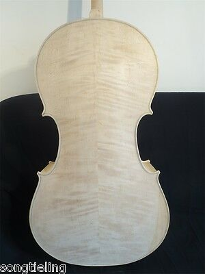 Strad style solid wood Unfinished Song cello 4/4 ,white cello #11465
