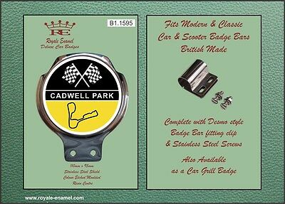 Royale Car Motorcycle Bar Badge - CADWELL MOTOR RACING CIRCUIT - B1.1595