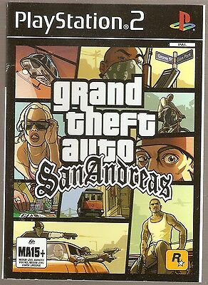 Grand Theft Auto San Andreas  Ps2  Insert Only