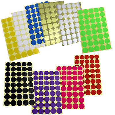 400×25mm DOT STICKERS Round Sticky Adhesive Spot Circles Paper Labels 10 Colours