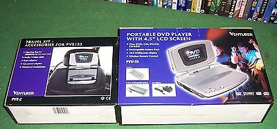 Venturer Portable Dvd Player +Travel Kit New And Boxed
