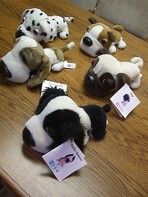 Pick 2 from Lot of 5 CE The DOG Stuffed Animals/Pug, Dalmatian, Hound..more