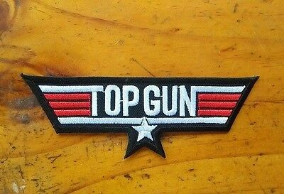 "Cool Army ""TOP GUN"" Army Air Force Embroidery Iron On / Sew On Patches"