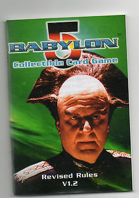 Babylon 5 CCG Revised Rules V 1.2 - Instructions - Very Good Condition