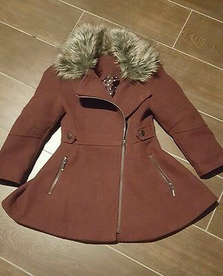 Fit and flare girls winter coat age 3