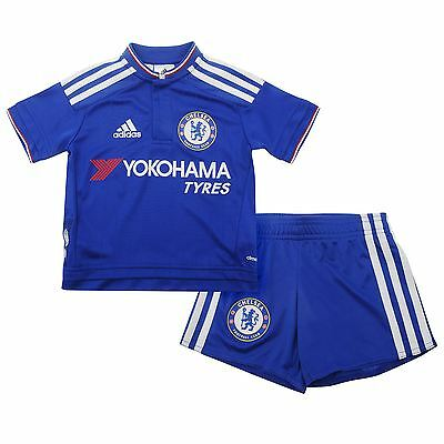 Adidas infants chelsea fc football club home kit shirt top shorts brand new